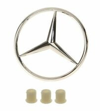 Mercedes W124 W201 GENUINE / VAICO Trunk Star Emblem With 3 Fastener Grommet NEW