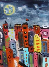 ORIGINAL CITY  Naive FOLK  Outsider SELF TAUGHT Mary Carol art MCW Expressionism