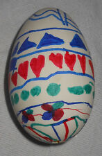 """Hand Decorated 4"""" Farm Raised Goose Egg Holiday Easter Christmas Decoration"""