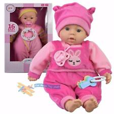 """18"""" New Born Soft Bodied Baby Doll Toy with Dummy Baby Sounds Crying Talking"""