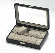 Davidt's Black Lockable Twelve Watch Box DAV367 844 01