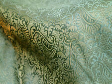 Brocade Fabric Green Gold brocade jacquard fabric Art silk fabric