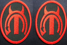 mopar devil horn patches dodge style 2 patches racing patch Iron or Sew On