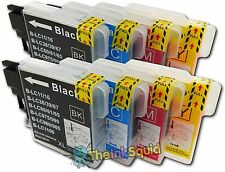 8 Compatible LC985 (LC39) Ink Cartridges for Brother MFC-J220 Printer