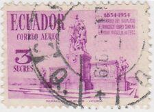 (EC105) 1954 Ecuador 3S lilac movement ow1027