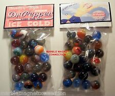 2 BAGS OF DR PEPPER SODA 10-2 4  ADVERTISING PROMO MARBLES