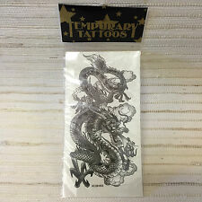 TATTOO-Temporary Tattoo FIRE DRAGON.SERPENT--NEW~REALISTIC~BUY 1GET 1FREE~SKU07