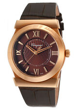 NIB SALVATORE FERRAGAMO Vega Rose Gold IP Brown Dial Leather Ladies Swiss Watch