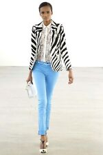 Runway! Fab £3,700 New Emilio Pucci Zebra Print Leather Jacket,  IT40/UK8