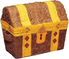 Treasure Chest Pinata - Pirate Themed Boys Birthday Party Games & Supplies