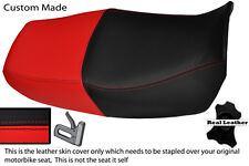 RED & BLACK CUSTOM FITS HONDA CB 750 NIGHTHAWK DUAL LEATHER SEAT COVER