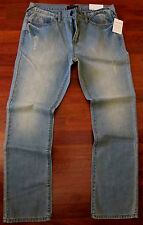 Guess Slim Straight Leg Jeans Men Size 30 X 30 Vintage Distressed Light Wash NEW