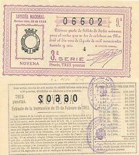 Lotería Nacional. Sorteo Número 22 de 1936. Número 06602.