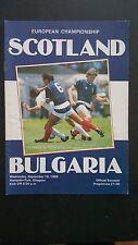 Programme / Programma Schotland v Bulgaria 10-09-1986 Euro 1988 Qualifier match