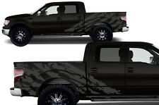 Custom Vinyl Decal Halfside Shred Wrap Kit for Ford Truck Parts F-150 09-14 Gray