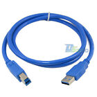 High Speed 1m USB 3.0 A Male To B Male Plug Adapter Converter Extension Cable