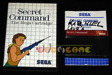 SECRET COMMAND Master System Versione Europea PAL ••••• COMPLETO