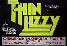 Thin Lizzy-Thunder And Lightning Tour,Cornwall Coliseum 1983 concert poster