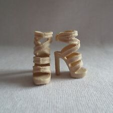 NEW Barbie Style Glam Luxe Grace Doll Tan High Heel Sandals ~ Shoes ADD ON ITEM!