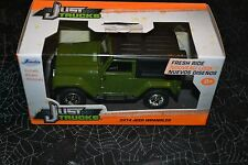 JADA JUST TRUCKS 2014 JEEP WRANGLER GREEN AND BLACK 1:32 SCALE