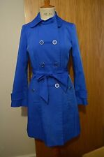 NEW PETITE DEBENHAM COLLECTION  Blue Mac Coat UK 8 DOUBLE BREASTED