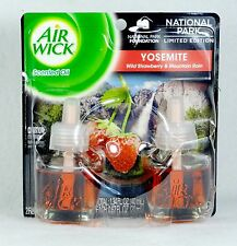 2 Refills Air Wick NATIONAL PARK - YOSEMITE AirWick Oil Refill STRAWBERRY RAIN