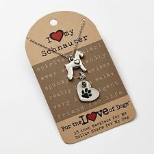 Schnauzer Necklace & Dog Charm Set