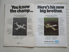 9/1973 PUB GATES LEARJET WICHITA LEARJET 35/36 AIRCRAFT FLUGZEUG ORIGINAL AD