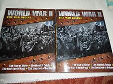 "WORLD WAR 11 "" THE WAR BEGINS "" 2011  2 BOOKS"
