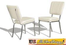CO-24 White Bel Air Möbel 2 Stühle Diner Küchenmöbel im Style der 50er Jahre USA