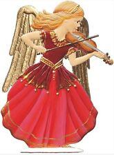 Artist Wilhelm Schweizer German Pewter Zinn - 2011 Angel with Violin in Red