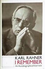 KARL RAHNER I REMEMBER AN AUTOBIOGRAPHICAL INTERVIEW HARDCOVER
