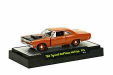 M2 MACHINES DETROIT-MUSCLE R25: 1969 PLYMOUTH ROAD RUNNER 400 6-PACK 1:64 BOXED