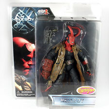 "Hellboy Movie Previews Exclusive HELLBOY Horns 7"" Action Figure Mezco 2004 New"
