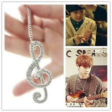 KPOP EXO NEXT DOOR Chanyeol Chan yeol Musical Notes Fashion Pendant Necklace