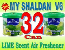 32 Can MY SHALDAN Air Freshener - LIME Scent - Real Fruit Aroma ( New V6 )