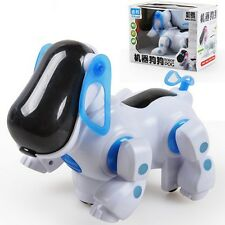 Robot Robotic Electronic Walking Pet Dog Puppy Kids Toy With Music Light Blue