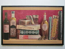 Cookbooks Plaque Kitchen Wall Decor French Italian Spanish Cooking Red Picture