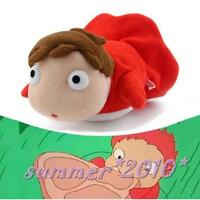 "PONYO 4"" 10cm Plush Doll By The Cliff Soft Toy Studio Ghibli KeyChain Pendant"