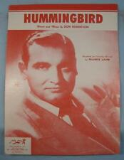 Hummingbird Sheet Music Vintage 1955 Frankie Laine Don Robertson Voice Piano (O)