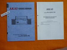 Service MANUAL AKAI PJ 35fs 35fu istruzioni schema elettrico Hi-Fi