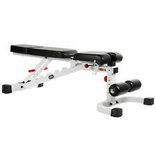 XMark FID Flat Incline Decline Weight Bench XM-7604-WHITE New