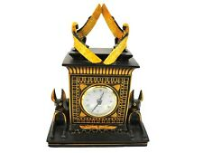 2003 Veronese Egyptian Clock w/ Anubis & Egyptian Queens