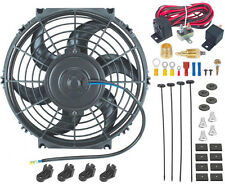 "10"" INCH ELECTRIC FAN 12V RADIATOR COOLING 3/8"" NPT GROUND THERMOSTAT SWITCH KIT"
