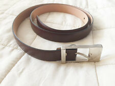 Womens Brown Leather 90cm belt from CORTE INGLES Barcelona - New