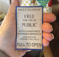 Doctor Who TARDIS Magnet PULL TO OPEN Dr. picture/coupon holder Sign Not a DVD
