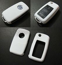 VW Car Remote Flip Key Cover Case Skin Shell Cap Fob Protection ABS WHITE -2009