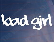 BAD GIRL Funny Car/Van/Bike/Bumper/Window JDM EURO Vinyl Sticker/Decal