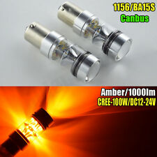 2xP21W 100W 1000LM Canbus CREE LED 1156 382 BA15s INDICATOR BULBS AUDI BMW AMBER