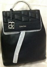 Calvin Klein Kora Black tonal quilted accent Backpack BRAND NEW WITH TAG AUTHENC